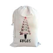 .Christmas Santa Sack Personalised - Tribal Arrow