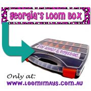 Personalised Loom Band Storage Box and Carry Case - Leopardi Design - Musk Pink