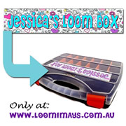 Personalised Loom Band Storage Box and Carry Case - Sketchi Design - Aqua
