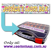 Personalised Loom Band Storage Box and Carry Case - Sketchi Design - Yellow
