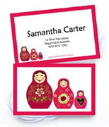 Personalised Bag Tags Babushka Dolls - Luggage Tag