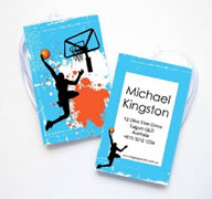 Personalised Bag Tags Basketball - Luggage Tag