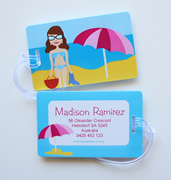Personalised Bag Tags Beach Princess - Luggage Tag