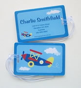 Personalised Bag Tags Blue Plane - Luggage Tag