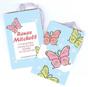 Personalised Bag Tags Butterfly Meadows - Luggage Tag