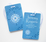Personalised Bag Tags Compass - Luggage Tag