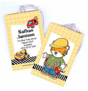 Personalised Bag Tags Construction - Luggage Tag