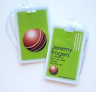 Personalised Bag Tags Cricket Pro - Luggage Tag