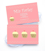 Personalised Bag Tags Cupcakes - Luggage Tag