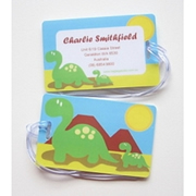 Personalised Bag Tags Dinosaurs - Luggage Tag