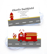 Personalised Bag Tags Fire Engine - Luggage Tag