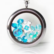 Floating Memory Locket Readymade - For Baby Boy