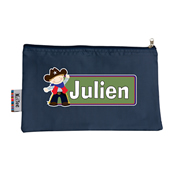Pencil Case Large - Cowboy Choice of hot pink or navy