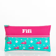 Pencil Case for School Kids Personalised - Flamingo