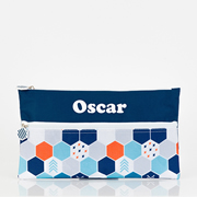 Pencil Case for School Kids Personalised - Hexagon Matrix