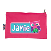 Pencil Case Large - Owl Pink Choice of hot pink or navy