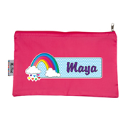 Pencil Case Large - Rainbow Choice of hot pink or navy