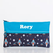 Pencil Case for School Kids Personalised - Rocket