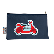 Pencil Case Large - Scooter Choice of hot pink or navy