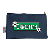 Pencil Case Large - Soccer Choice of hot pink or navy
