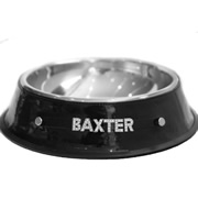 Personalised Pet Bowl - Bling Black