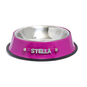 Personalised Pet Bowl - Bling Pink