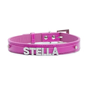Personalised Pet Collar - Pink Medium