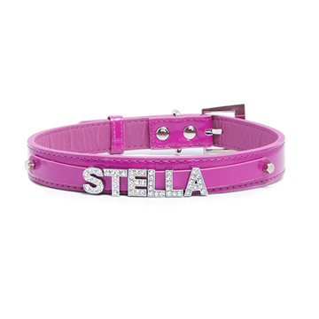 Personalised Pet Collar - Pink Small