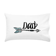 .Personalised Pillowcase for Fathers Day  - Arrow