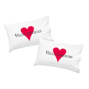 .Personalised Pillowcase for Grown-Ups  - Hello