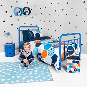 Personalised Quilt Cover Set Double - Hexagon Matrix