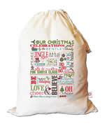 Christmas Santa Sack Personalised - Christmas Chart