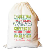 Christmas Santa Sack Personalised - Christmas Cheer