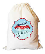 Christmas Santa Sack Personalised - Christmas Hills