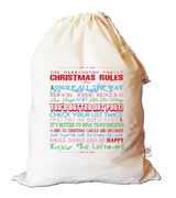 Christmas Santa Sack Personalised - Family Christmas Rules