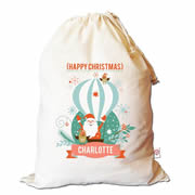 Christmas Santa Sack Personalised - Hot Air Balloon
