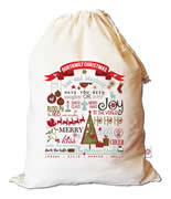 Christmas Santa Sack Personalised - Our Family Christmas