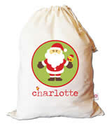Christmas Santa Sack Personalised - Santa Circle