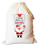Christmas Santa Sack Personalised - Santas Sign