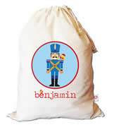 Christmas Santa Sack Personalised - Soldier Circle