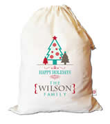 Christmas Santa Sack Personalised - Tree Trio
