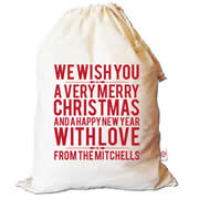 Christmas Santa Sack Personalised - We Wish You