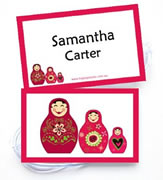 Personalised Bag Tags Babushka Dolls - Bag Tag