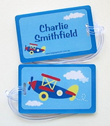 Personalised Bag Tags Blue Plane - Bag Tag