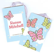 Personalised Bag Tags Butterfly Meadows - Bag Tag