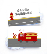 Personalised Bag Tags Fire Engine - Bag Tag