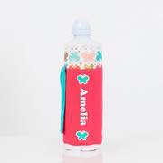 Personalised Water Bottle Cover -  Butterfly Kisses