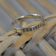 Personalised Name Ring - 3mm