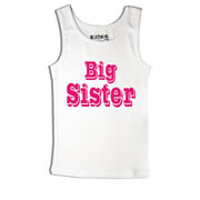 Big Sister - Singlet Personalised for Kids