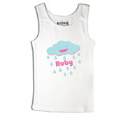 Cloud - Singlet Personalised for Kids